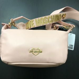 Love Moschino Rose Blush Purse Quilted Crossbody